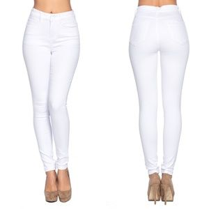 Blue Age Jeans - High Waist White Denim Jeans~New Arrival